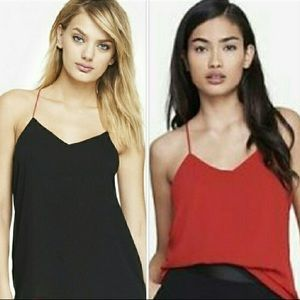 Express Barcelona Reversible Cami Top Black Red